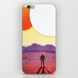 NASA Retro Space Travel Poster #8 Kepler 16b iPhone Skin