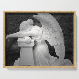 crying angel Serving Tray
