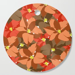 Poinsettia Love Cutting Board