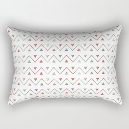 Ethno wave with triangles. Rectangular Pillow