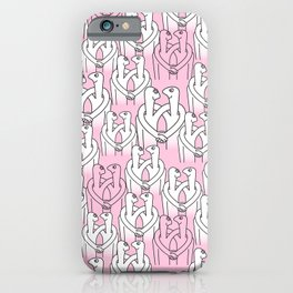 Give me a hug (pink pattern) iPhone Case