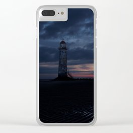 Talacre Lighthouse Sunrise Clear iPhone Case