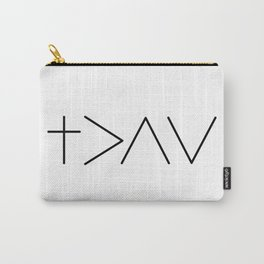 God is greater then the highs and the lows Carry-All Pouch