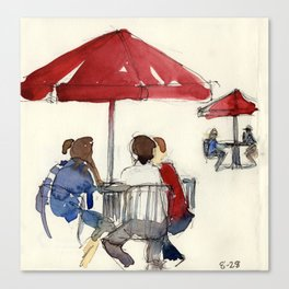 Umbrella Lunch Canvas Print