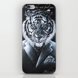 """""""Don't let the suit fool you."""" iPhone Skin"""