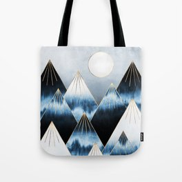 Frost Mountains Tote Bag