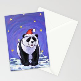 Panda Bear Christmas Stationery Cards