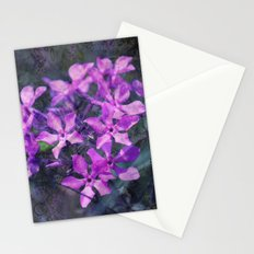 purple pink flower explosions Stationery Cards