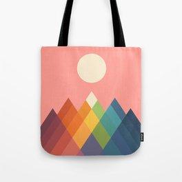 Rainbow Peak Tote Bag