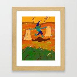 Angry elf land Framed Art Print