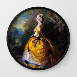 Eugénie de Montijo, oil on canvas by Franz Winterhalter Wall Clock