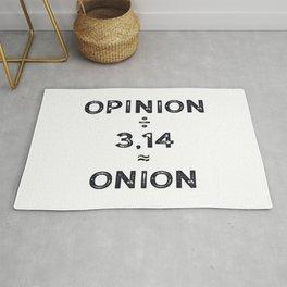 Pi day Opinon / Pi = Onion Math Joke Rug