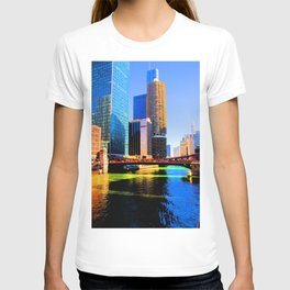 Clark St. Bridge, Chicago (Pop) T-shirt