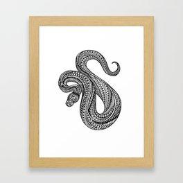Ornate ball python Framed Art Print