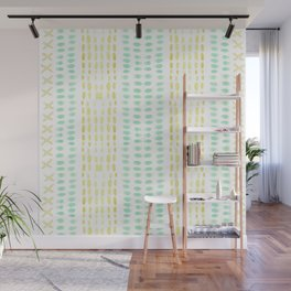 Striped dots and dashes Wall Mural