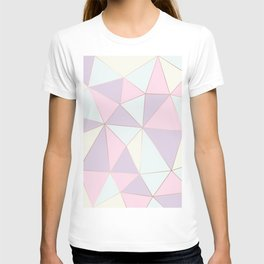 Pastel colors modern geometric triangles pattern T-shirt