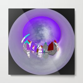 circular images -1- Metal Print