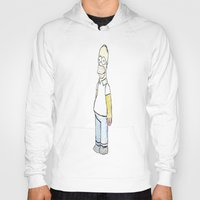 simpson Hoodies featuring Homer simpson by J Styles Designs