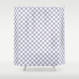 Gingham - Morning Sky Shower Curtain