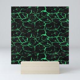 Green alexandrite gemstone wall Mini Art Print