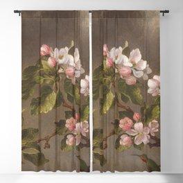 Martin Johnson Heade - Hummingbird and Apple Blossoms Blackout Curtain