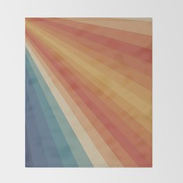 Retro 70s Sunrays Throw Blanket