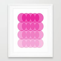 ombre Framed Art Prints featuring Ombre by TypeArtist