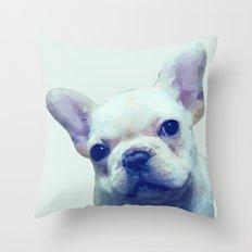 French Bulldog Geometric Throw Pillow
