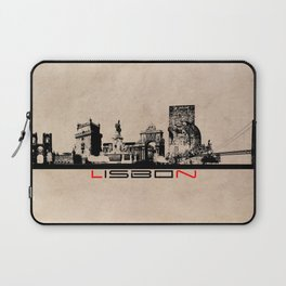 Lisbon skyline city elegant Laptop Sleeve