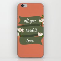 all you need is love iPhone & iPod Skins featuring All you need is love by Juliana RW