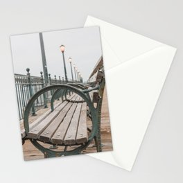 Sitting by the bay Stationery Cards