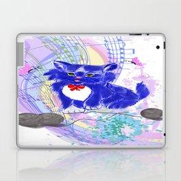 Blue kitty illustration  Laptop & iPad Skin