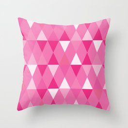 Harlequin Print Pinks Throw Pillow