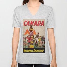 Vintage poster - Canada Unisex V-Neck