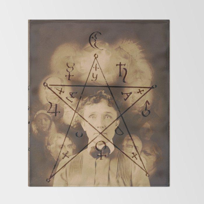 Spiritualist Mandala Throw Blanket