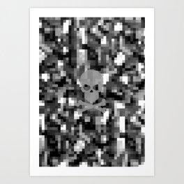 digital skull Art Print