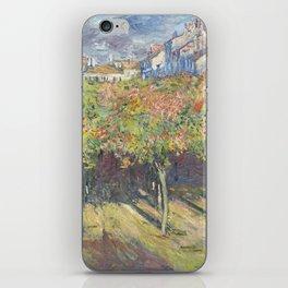 Les Tilleuls à Poissy by Claude Monet iPhone Skin