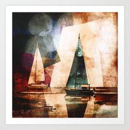 Sailors evening Art Print