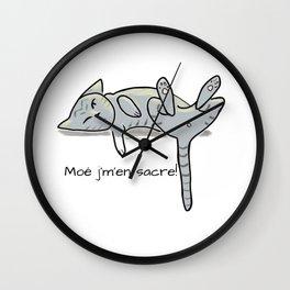 Domaine Coquelicots - Moé j'm'en sacre! Wall Clock