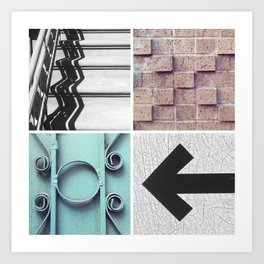 Graphic Quadrant 1 Art Print