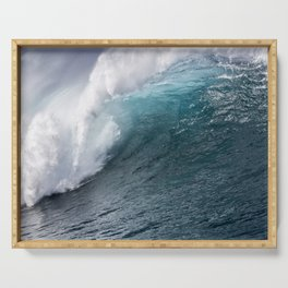 Extreme Ocean wave close up Serving Tray