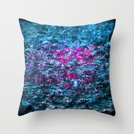 Water Color - Violet - Purple Throw Pillow