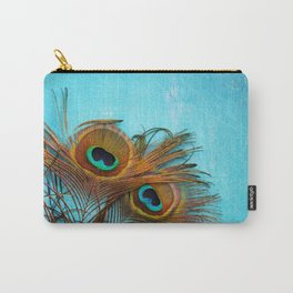 3 peacock feathers Carry-All Pouch