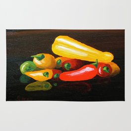 Peppers From a Friend, the painting Rug