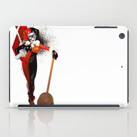 harley quinn iPad Cases featuring Harley Quinn by nachodraws