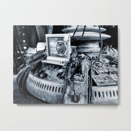 Console room (black and white) Metal Print