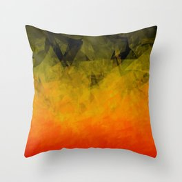 Sunset Abstract Facets Throw Pillow