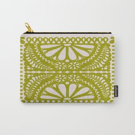Fiesta de Flores in Lime Carry-All Pouch