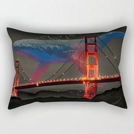 Giant Whale Music Rectangular Pillow
