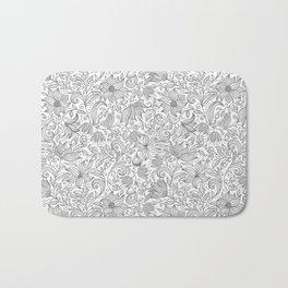 Bells Flower - BUTTERFLIES - CAMPANULA GRAY Bath Mat